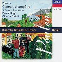 Pascal Rogé, Orchestre National De France, Charles Dutoit – Poulenc: Concert champetre/Suite francaise/Sinfonietta etc.