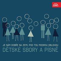 Přední strana obalu CD Je nám dobře na zemi, Pod tou modrou oblohou, ... Dětské sbory a písně /Sommer, Mácha, Eben, Smolka...