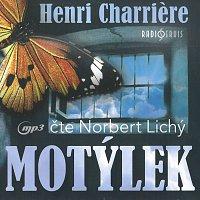 Přední strana obalu CD Charriére: Motýlek (MP3-CD)