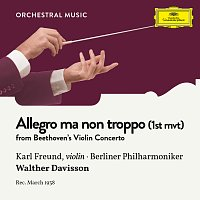 Karl Freund, Berliner Philharmoniker, Walther Davisson – Beethoven: Violin Concerto in D Major, Op. 61: 1. Allegro ma non troppo