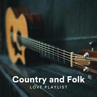 Přední strana obalu CD Country and Folk Love Playlist