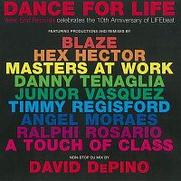 """Přední strana obalu CD Dance For Life """"West End Records Celebrates The 10th Anniversary of LIFEBeat"""" (2012 - Remaster)"""