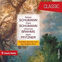 Přední strana obalu CD Novotný & Ardašev Play Schumann, Brahms, Pfitzner