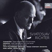 Přední strana obalu CD Čajkovskij, Prokofjev & Bach: Koncerty pro klavír a orchestr. Russian Masters