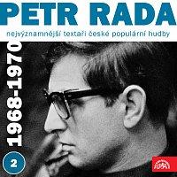 Přední strana obalu CD Nejvýznamnější textaři české populární hudby Petr Rada 2 (1968 - 1970)