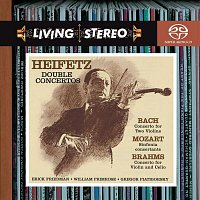 Gregor Piatigorsky, Johannes Brahms, Jascha Heifetz, Alfred Wallenstein, RCA Victor Symphony Orchestra – Bach: Concerto for Two Violins in D Minor; Brahms: Concerto for Violin and Cello in A Minor; Mozart: Sinfonia Concertante in E-Flat