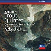 Přední strana obalu CD Schubert: Trout Quintet; 6 Moments musicaux