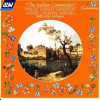 Přední strana obalu CD The Italian Connection: Vivaldi; Corelli; Geminiani; Lonati; Veracini; Matteis