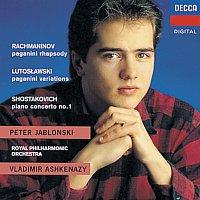 Peter Jablonski, Royal Philharmonic Orchestra, Vladimír Ashkenazy – Rachmaninov/Shostakovich/Lutoslawski: Rhapsody on a Theme of Paganini/Piano Concerto No.1/Paganini Vars