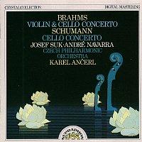 Josef Suk, André Navarra, Česká filharmonie, Karel Ančerl – Brahms, Schumann: Koncerty pro housle a violoncello a moll