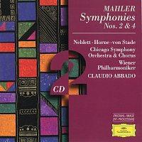 Wiener Philharmoniker, Chicago Symphony Orchestra, Claudio Abbado – Mahler: Symphonies Nos.2 & 4 [2 CD's]