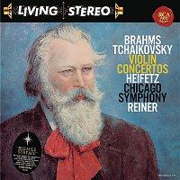 Přední strana obalu CD Brahms: Violin Concerto in D Major, Op. 77 - Tchaikovsky: Violin Concerto in D Major, Op. 35 - Heifetz Remastered
