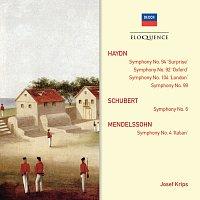 "Wiener Philharmoniker, London Symphony Orchestra, Josef Krips – Haydn: Symphonies 92,94,99,104; Schubert: Symphony No.6; Mendelssohn: Symphony No.4 ""Italian"""