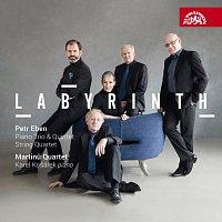 Přední strana obalu CD Eben: Smyčcový kvartet, Klavírní trio, Klavírní kvintet