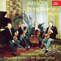 Talichovo kvarteto, Pražské dechové kvinteto, Petr Čáp – Janáček: Smyčcové kvartety č. 1 a 2, Mládí