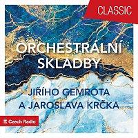 Přední strana obalu CD Orchestrální skladby Jiřího Gemrota a Jaroslava Krčka