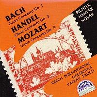 Svjatoslav Richter, František Hanták, Jiří Novák – Bach, Händel, Mozart: Koncert pro klavír a orchestr č. 1 - Koncert pro hoboj a orchestr č. 3 - Koncert pro housle a orchestr č. 4
