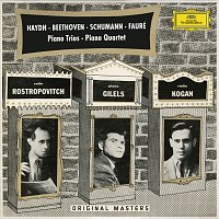 Přední strana obalu CD Haydn: Piano Trios H.XV Nos.16 & 19 / Beethoven: Piano Trios WoO38 & Op.97 / Schumann: Piano Trio Op.63 / Fauré: Piano Quartet Op.15