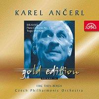 Přední strana obalu CD Ančerl Gold Edition 15. Brahms: Koncert pro klavír d moll, Tragická předehra