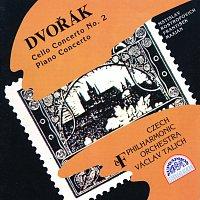 Přední strana obalu CD Dvořák: Koncert pro violoncello a orchestr č. 2, Koncert pro klavír a orchestr