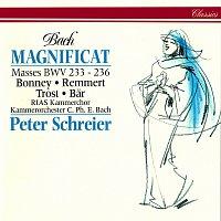 Peter Schreier, Barbara Bonney, Birgit Remmert, Rainer Trost, Olaf Bar – Bach, J.S.: Magnificat in D Major; Mass in A Major; Mass in F Major; Mass in G Minor; Mass in G Major