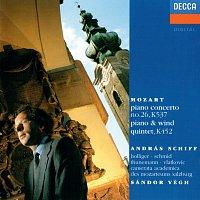"András Schiff, Camerata Academica des Mozarteums Salzburg, Sándor Végh – Mozart: Piano Concerto No. 26 ""Coronation""; Piano And Wind Quintet"