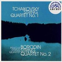 Přední strana obalu CD Čajkovskij, Borodin: Smyčcový kvartet č. 1 D dur, Smyčcový kvartet č. 2 D dur