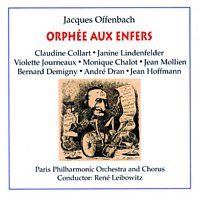 Přední strana obalu CD Orpheus in the Underworld