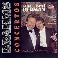 Přední strana obalu CD Brahms: Koncert pro klavír a orchestr č. 1 d moll, Koncert pro housle D dur