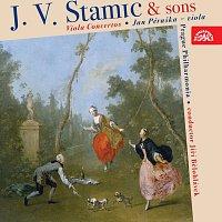 Přední strana obalu CD Stamic a synové: Koncerty pro violu