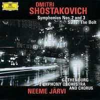 Přední strana obalu CD Shostakovich: Symphonies Nos. 2 & 3; The Bolt