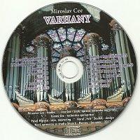 Přední strana obalu CD Varhany