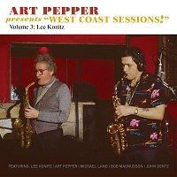 "Přední strana obalu CD Art Pepper Presents ""West Coast Sessions!"" Volume 3: Lee Konitz"