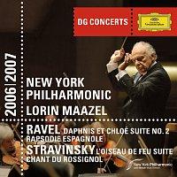 Přední strana obalu CD DG Concerts: Ravel: Daphnis & Chloe Suite No.2; Rapsodie Espagnol / Stravinsky: Le Chant du Rossignol; The Firebird Suite