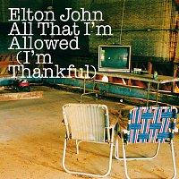 Přední strana obalu CD All That I'm Allowed (I'm Thankful)