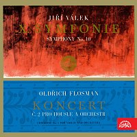 Přední strana obalu CD Flosman: Koncert č. 2 pro housle a orchestr, Válek: Symfonie č. 10