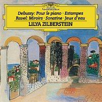 Přední strana obalu CD Debussy: Pour le piano, L.95; Estampes, L.100 / Ravel: Miroirs, M.43; Sonatine, M.40; Jeux d'eau, M.30