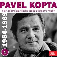 Přední strana obalu CD Nejvýznamnější textaři české populární hudby Pavel Kopta 1 (1954 - 1969)