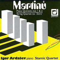 Přední strana obalu CD Martinů: Klavírní kvintety č. 1 a 2, Nultý smyčcový kvartet