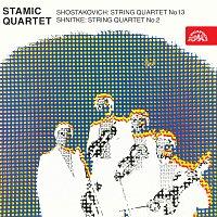 Přední strana obalu CD Šostakovič: Smyčcový kvartet č. 13, Šnitke: Smyčcový kvartet č. 2