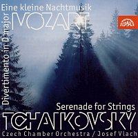 Český komorní orchestr/Josef Vlach – Mozart : Malá noční hudba, Divertimento / Čajkovskij : Serenáda pro smyčce