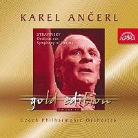 Přední strana obalu CD Ančerl Gold Edition 14. Stravinsky: Oidipus Rex, Žalmová symfonie