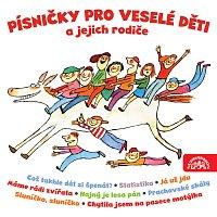 Přední strana obalu CD Písničky pro veselé děti a jejich rodiče