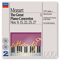 Přední strana obalu CD Mozart: The Great Piano Concertos Nos. 9, 15, 22, 25 & 27