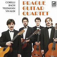 Přední strana obalu CD Corelli, Bach, Telemann, Vivaldi: Prague Guitar Quartet