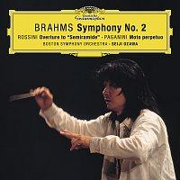 "Boston Symphony Orchestra, Seiji Ozawa – Brahms: Symphony No. 2 In D Major, Op. 73 / Rossini: Overture From ""Semiramide"" / Paganini: Moto perpetuo, Op.11"