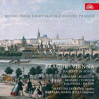 Přední strana obalu CD Prague-Vienna - Journey in Songs, Hudba Prahy 18. století