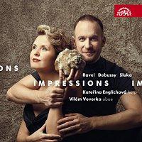 Přední strana obalu CD Impressions / Ravel, Debussy, Sluka: Skladby pro hoboj a harfu