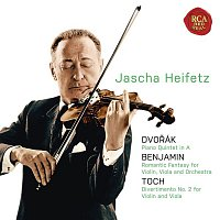 Gregor Piatigorsky, Antonín Dvořák, Jascha Heifetz, Jacob Lateiner, Israel Baker, William Primrose – Dvorak: Piano Quintet in A;Benjamin: Romantic Fantasy; Toch: Divertimento No. 2