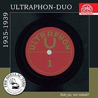 Přední strana obalu CD Historie psaná šelakem - Ultraphon-Duo I: Kde jsi, mé mládí? Původní nahrávky z let 1935 - 1939
